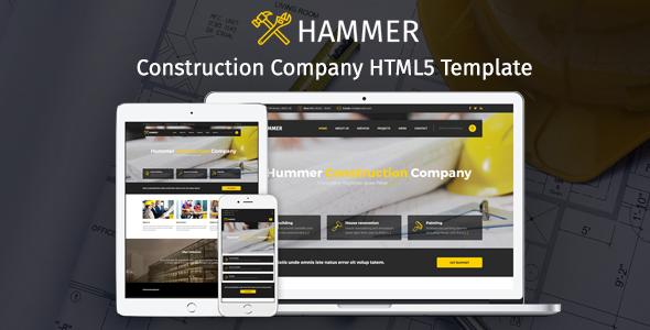 Hammer Construction Company HTML Theme