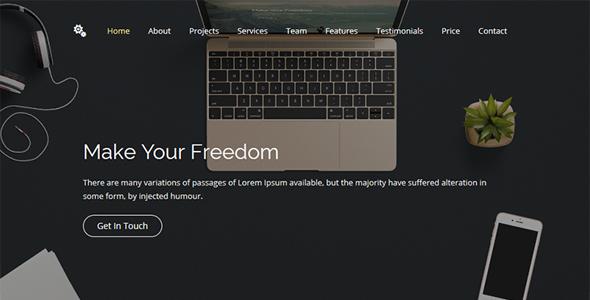 Freedom 2.0 - Creative HTML Website Template