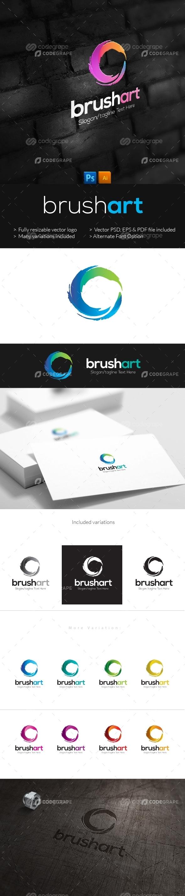 Brush Art Logo