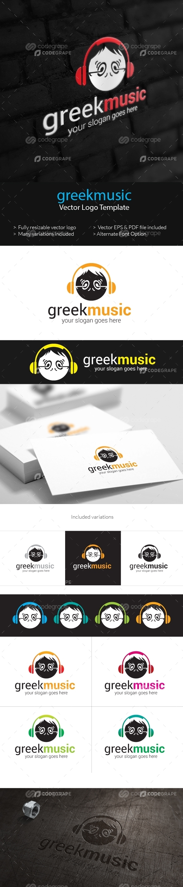 Greek Music Logo