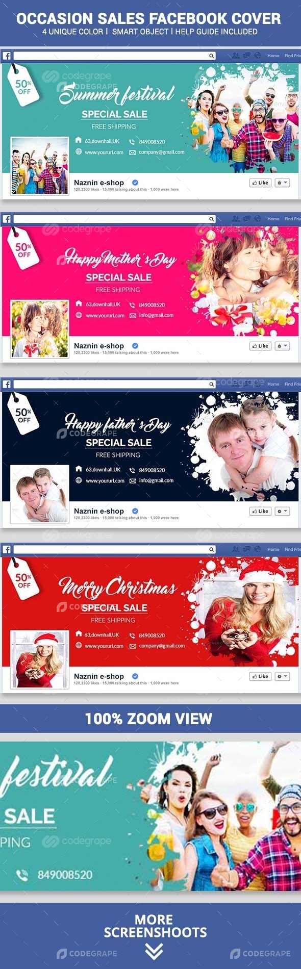 Occasion Sales Facebook Covers