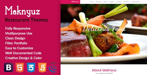 Maknyuz Restaurant HTML Theme