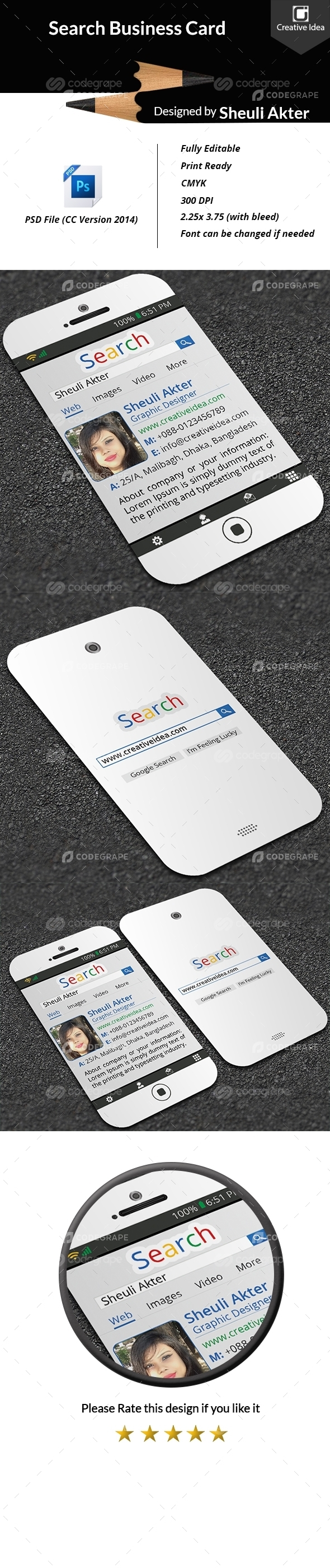 Search Style Business Card