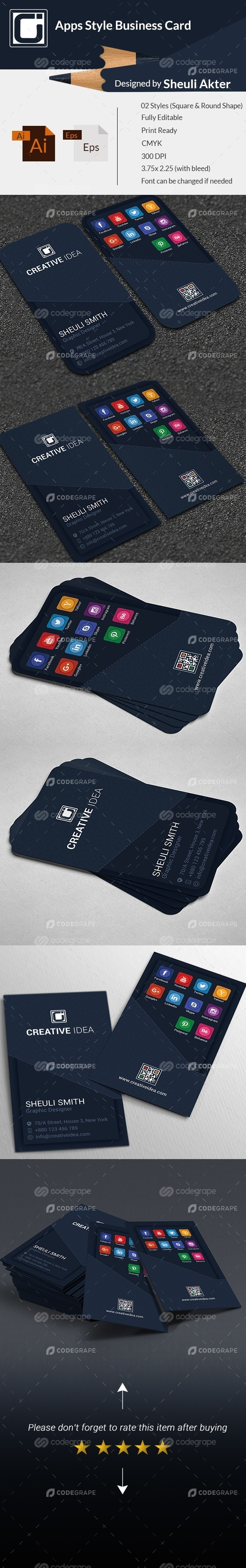 Apps Style Business Card
