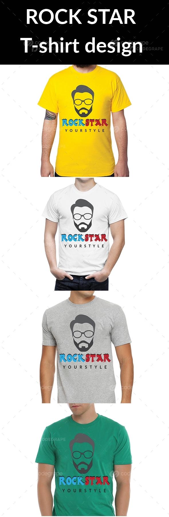 Rock Star T-shirt Design