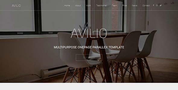 Avilio - Multipurpose Responsive OnePage Template