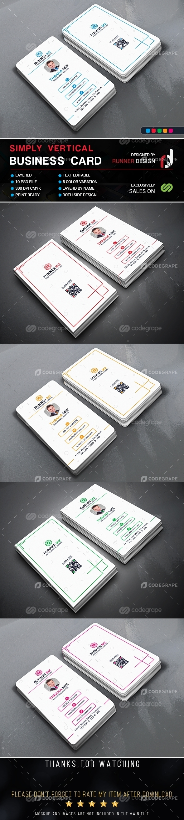 Simply Vertical Business Card