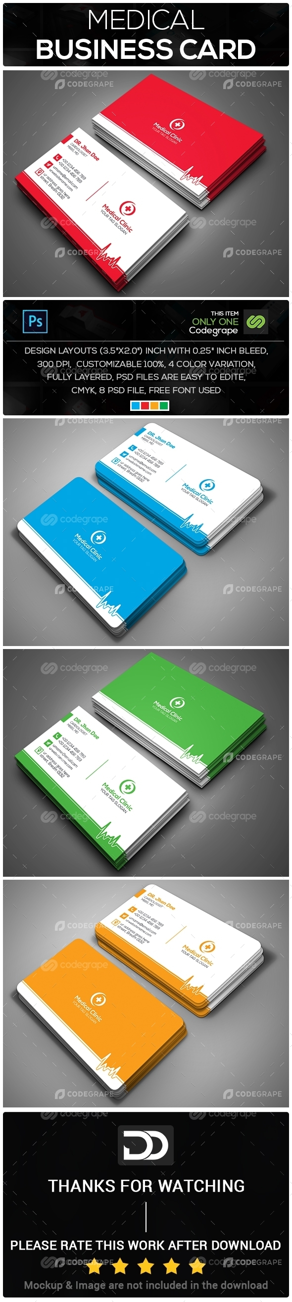 Medical Business Card - Print | CodeGrape