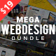 Mega Web Design Bundle with Extended License - Only $19