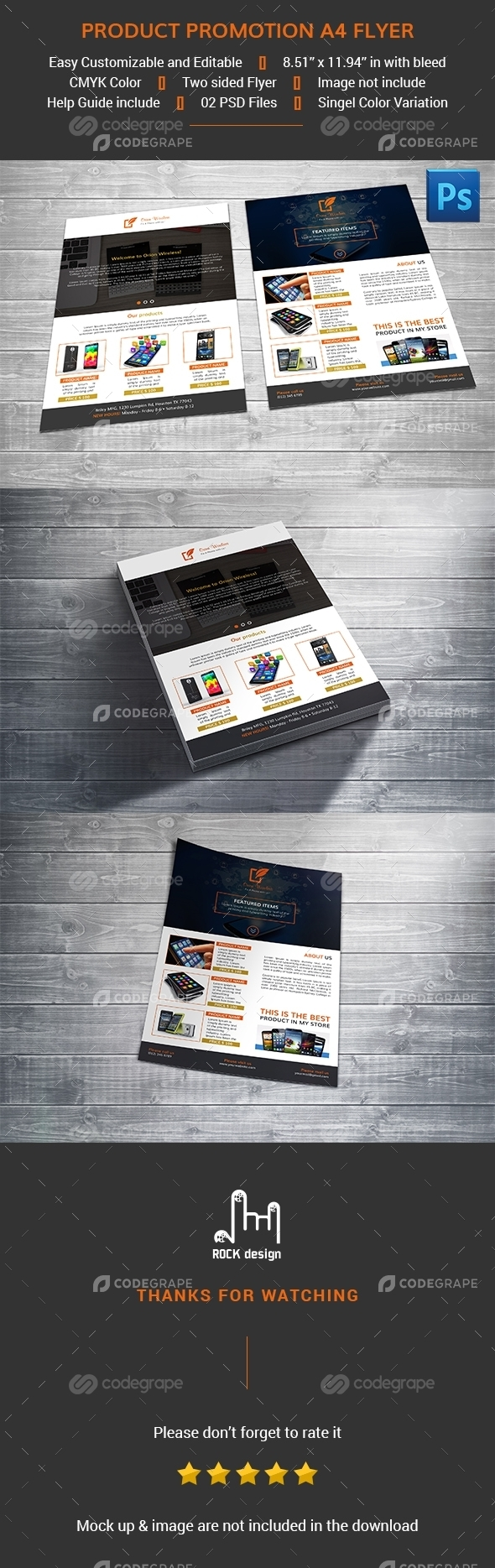 Product Promotion A4 Flyer (Two Sided)