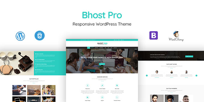 BHOST PRO - Responsive WordPress Theme