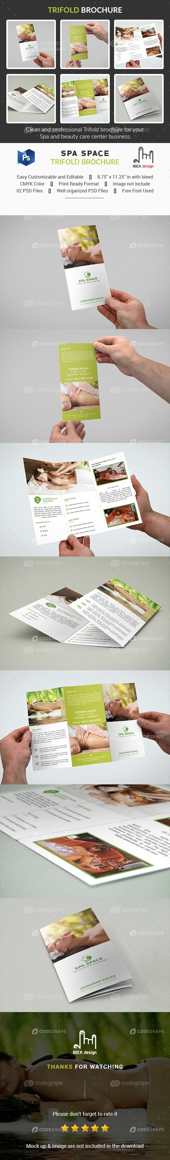 Spa Space Trifold Brochure