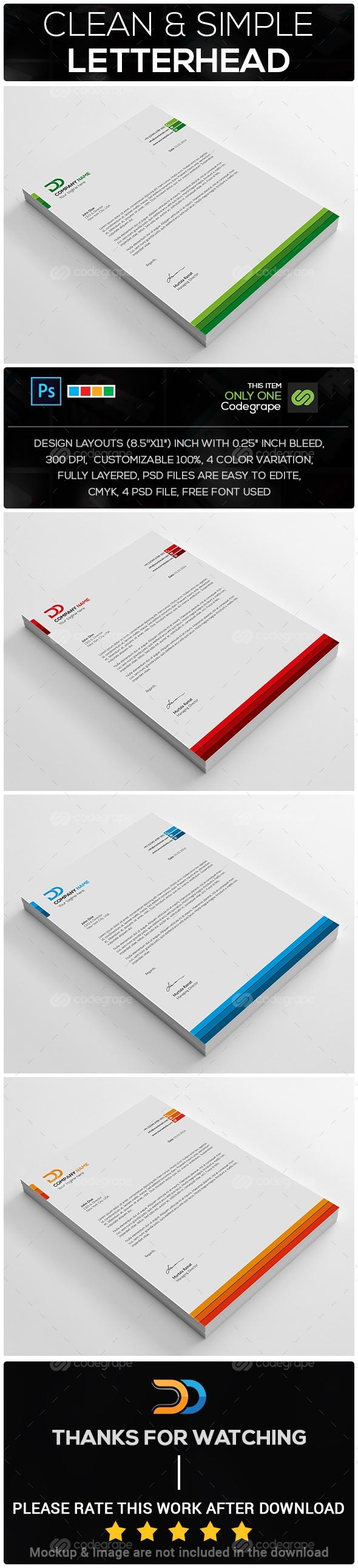 Clean & Simple Letterhead