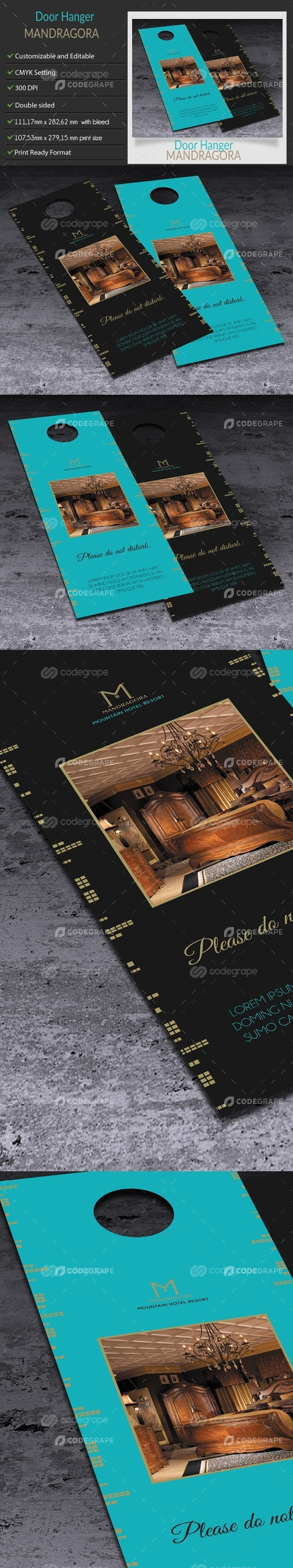 Door Hanger Card - Mandragora