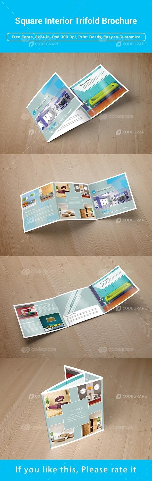 Square Interior Trifold Brochure