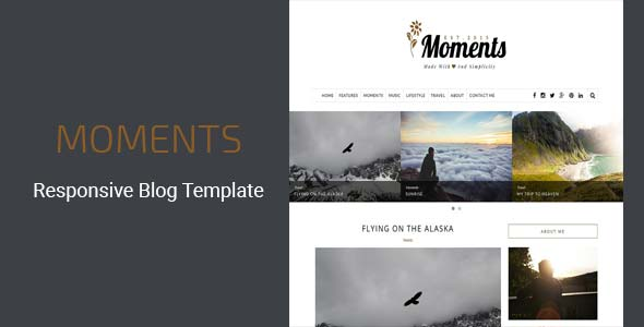 Moments - Responsive Blog Template
