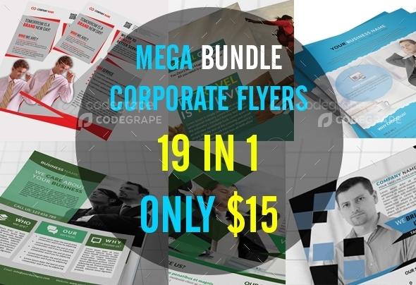 Mega Bundle Corporate Flyers 19 in 1
