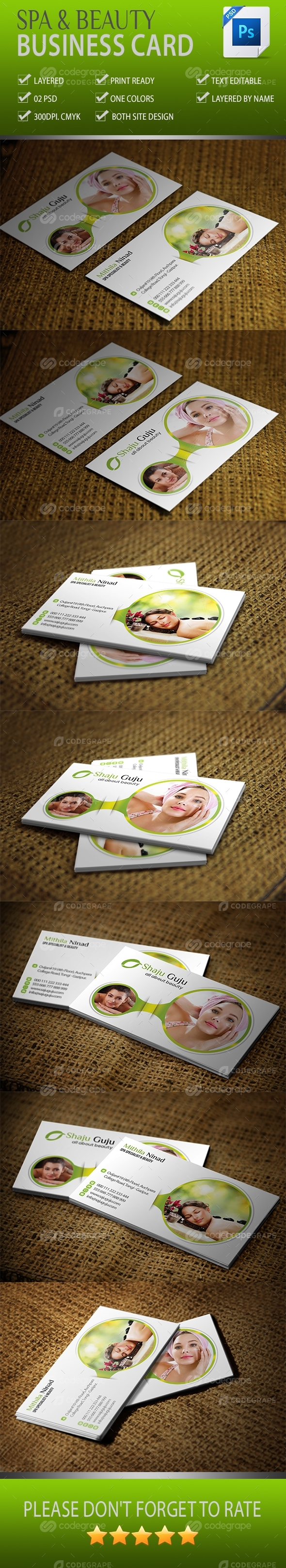 Spa And Beauty Business Card Vol-01