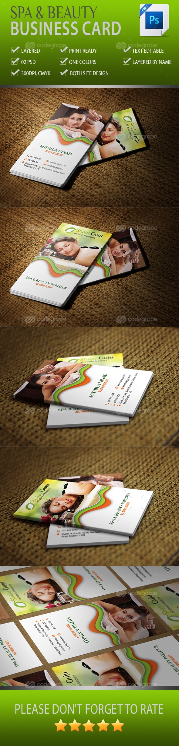 Spa And Beauty Business Card Vol-02