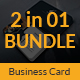 Guitar Musician Business Card Bundle 2 in 1