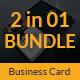 Guitar Musician Business Card Bundle 2 in 1