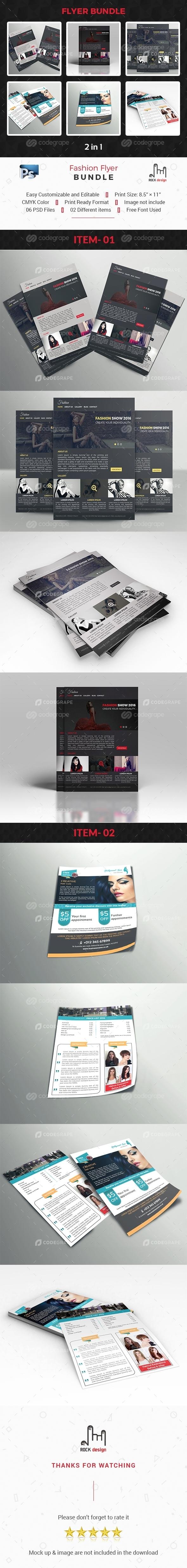 Fashion Flyer Bundle 2 in 1