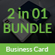 Corporate Business Card Bundle 2 in 1