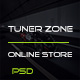 Tuner Zone-PSD Templates For Online Store