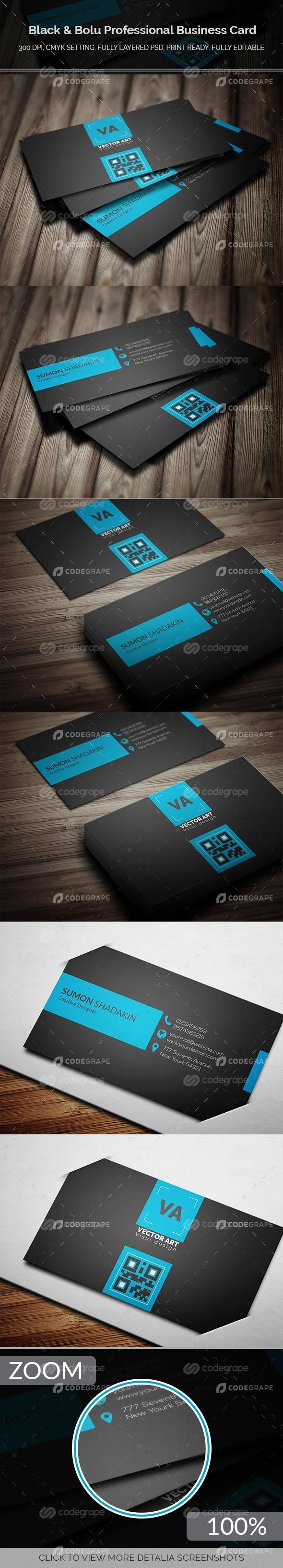Black & Blue Business Card