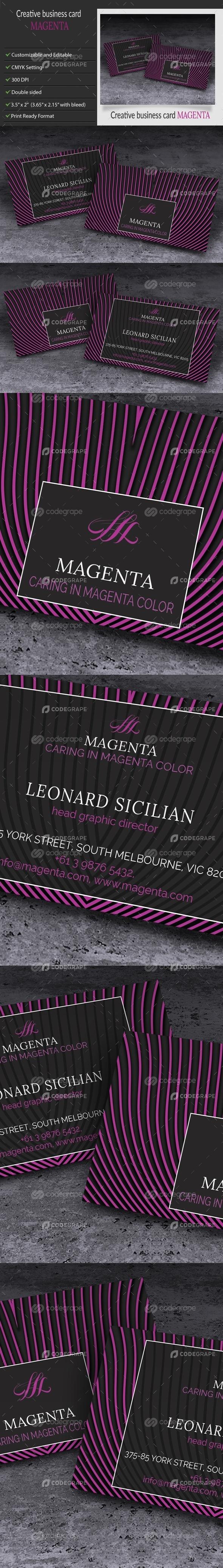 Elegant Creative Business Card-Magenta