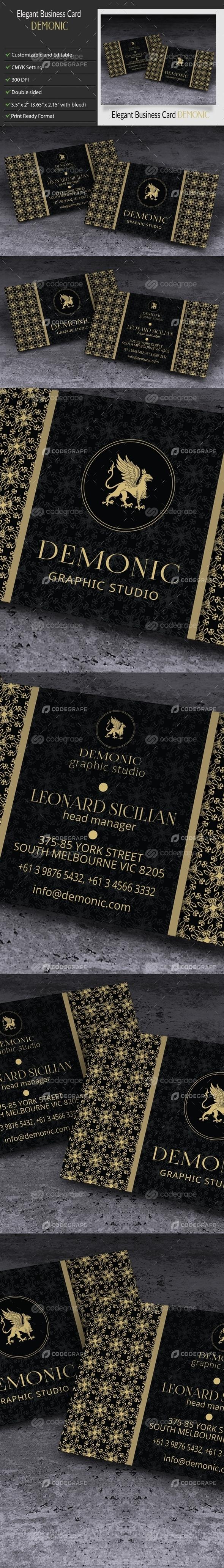 Elegant Creative Business Card - Demonic