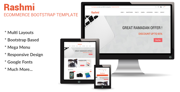 Rashmi - Responsive Ecommerce Bootstrap Template
