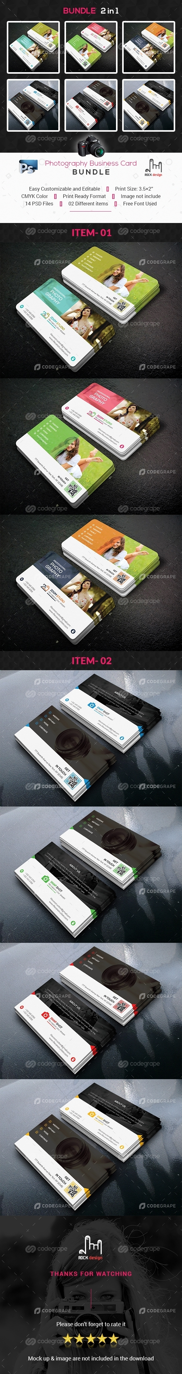 Photography Business Card Bundle 2 in 1