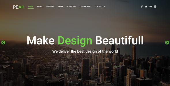 Peak - Bootstrap Landing Page
