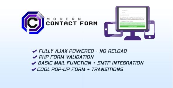 Modern Contact Form - Popup plus AJAX