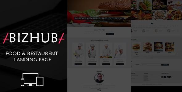 Bizhub Food & Restaurent Landing Page