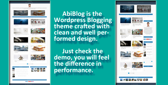 AbiBlog - Well Performed WordPress Theme