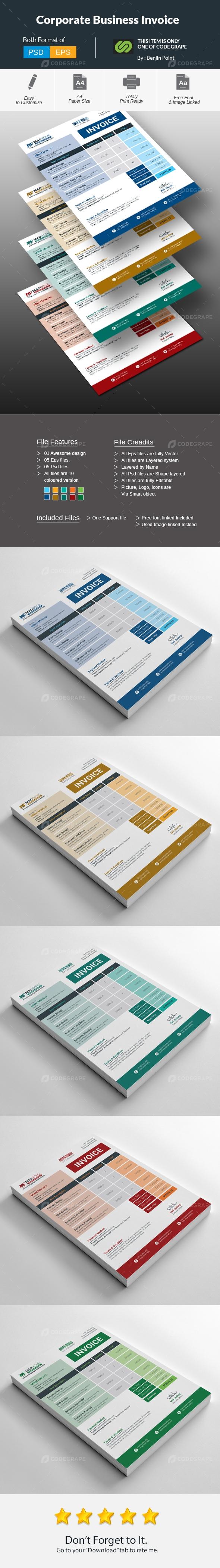 Corporate Business Invoice