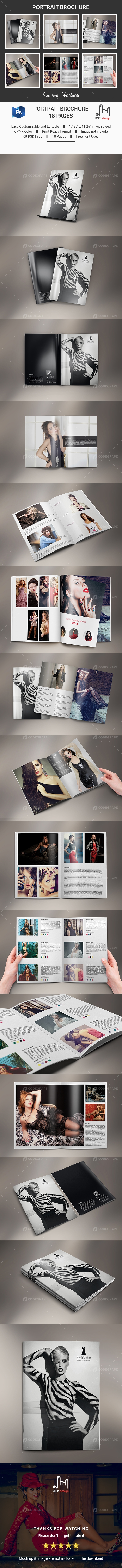 Simply Fashion Portrait Brochure - 18 Pages