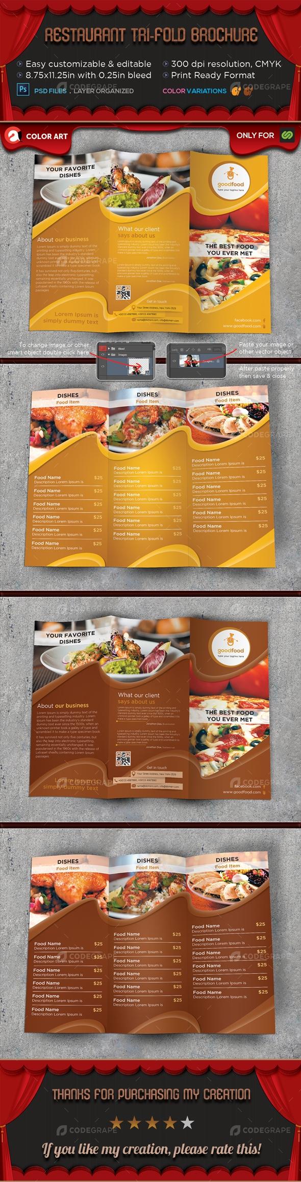 Restaurant Tri-fold Brochure V.4