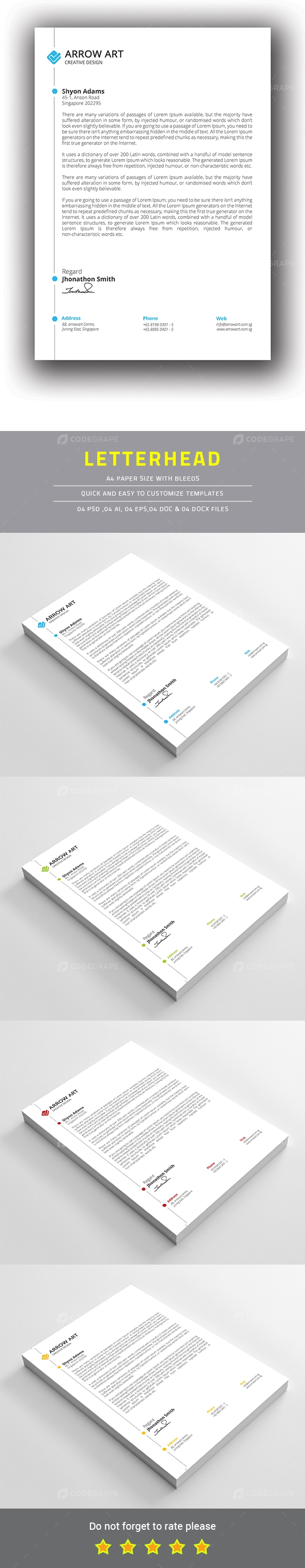 how to make a letterhead in adobe photoshop
