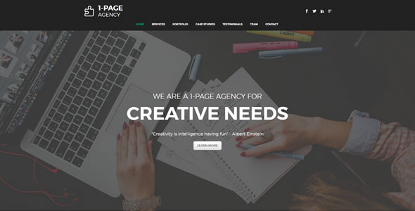 Movelize Elegant Landing Page