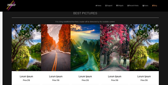 HoloPhotos HTML Template