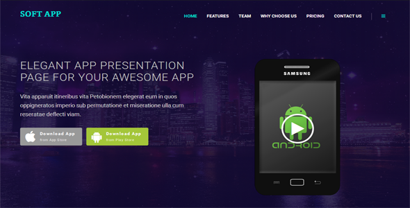 Soft App Single Page Multipurpose Theme