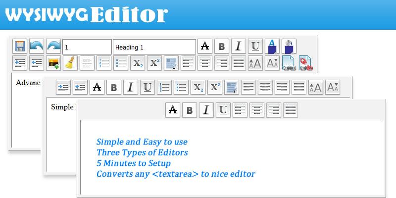 WYSIWYG HTML Editor - Javascript