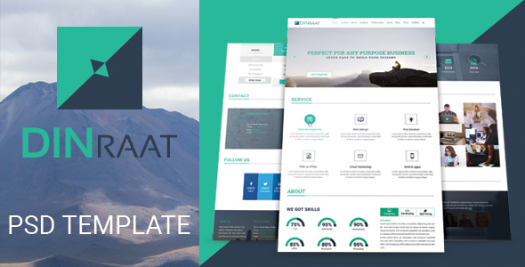 DINRAAT One-Page Business PSD Template