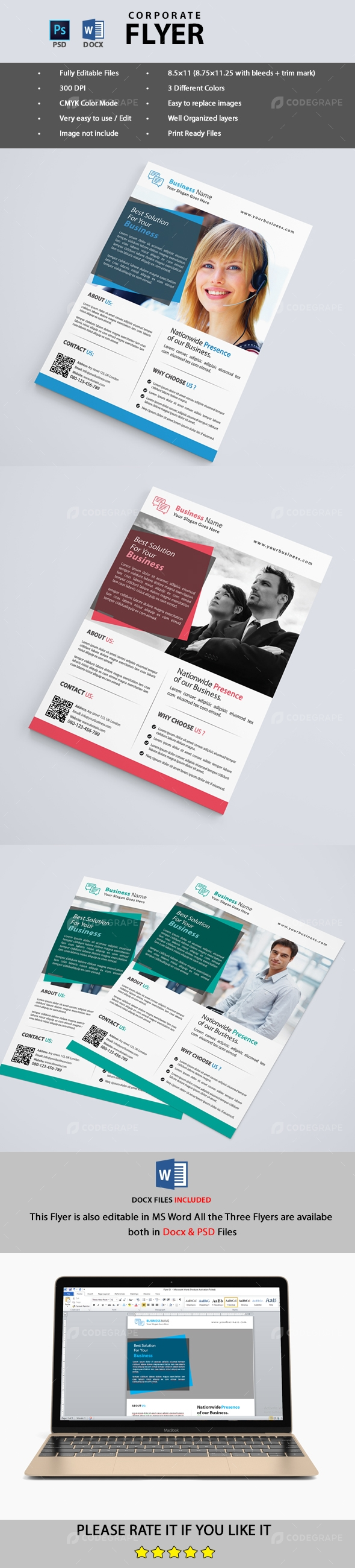 Corporate Flyer (PSD & MS Word)