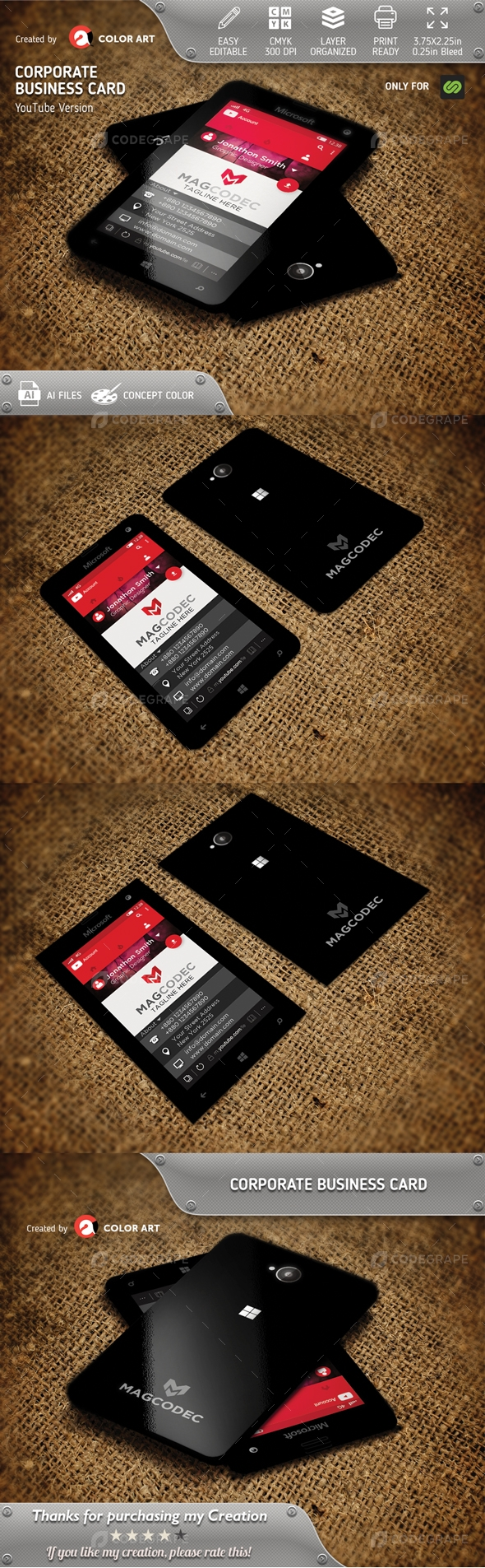 YouTube Business Card V.1
