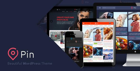 Pin - Best Pinterest Style WordPress Theme