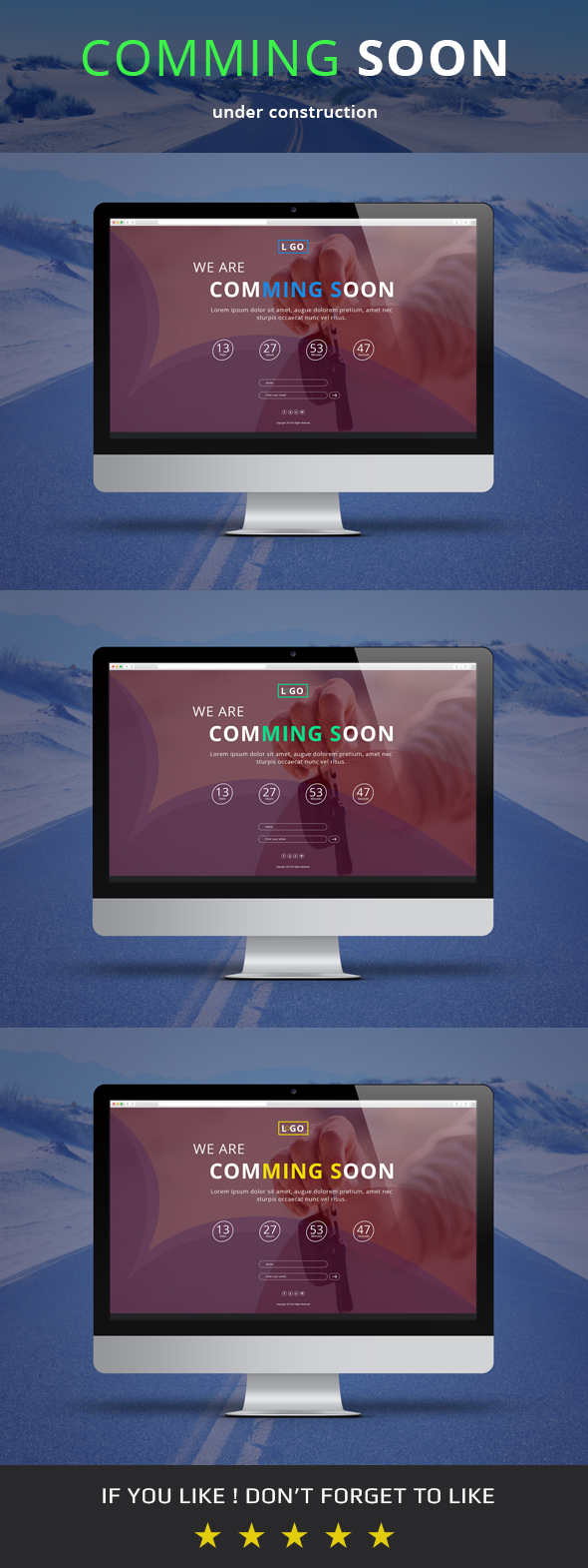 Comming Soon PSD Template